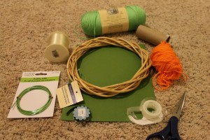 Jack-O-Lantern Wreath Supplies