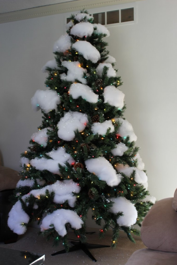 Snow Covered Christmas Tree