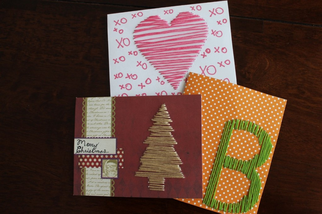 Hand-Stitched Cards