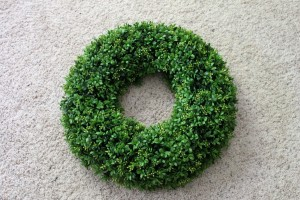 Boxwood Wreath Finished
