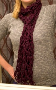 Crochet Purple Scarf