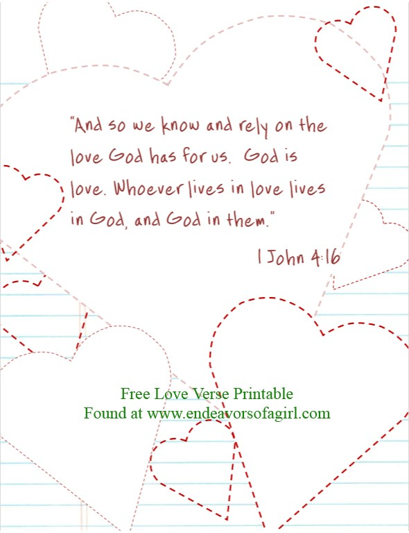 Free Printable Valentine S Day Bible Verses Endeavors