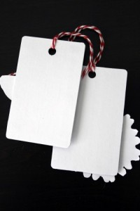 Gift Card turned Gift Tag Black & White Back