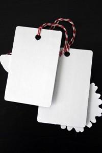 Gift Card turned Gift Tag Black & White Back