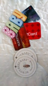 Gift cards and Hang Tags before