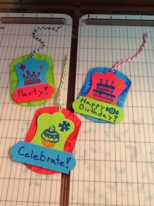 Neon Birthday Gift Tags