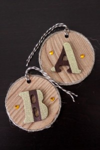Up-cycled hang tags to gift tags