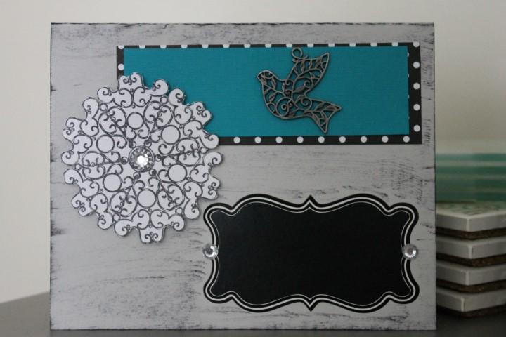 Blank Chalkboard Card