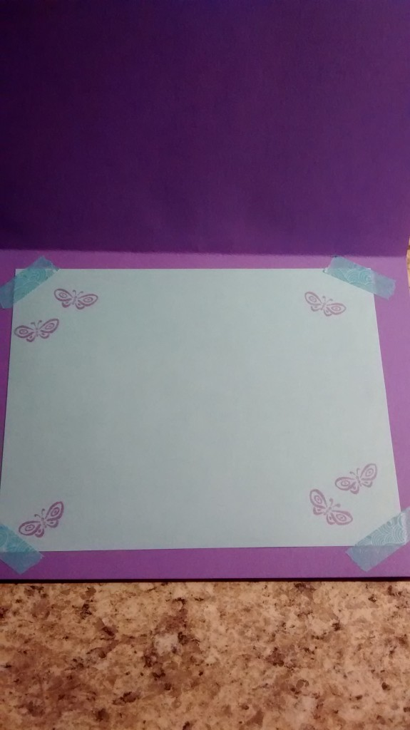 Inside butterfly card