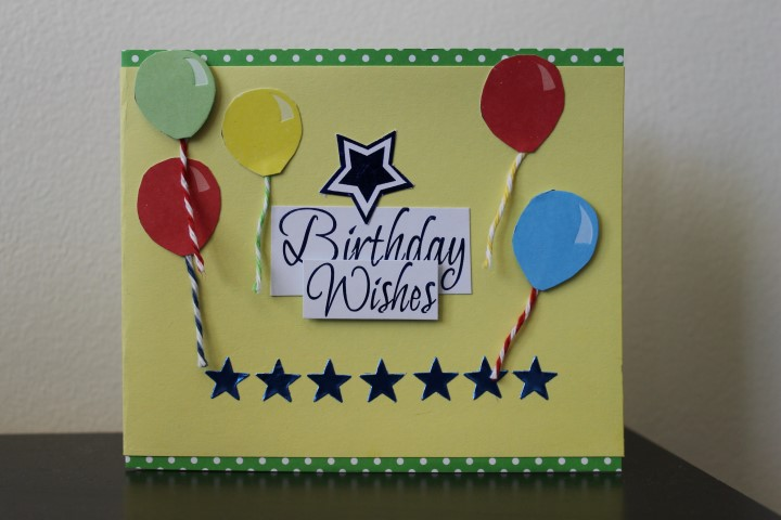 Re-Purposed Birthday Card