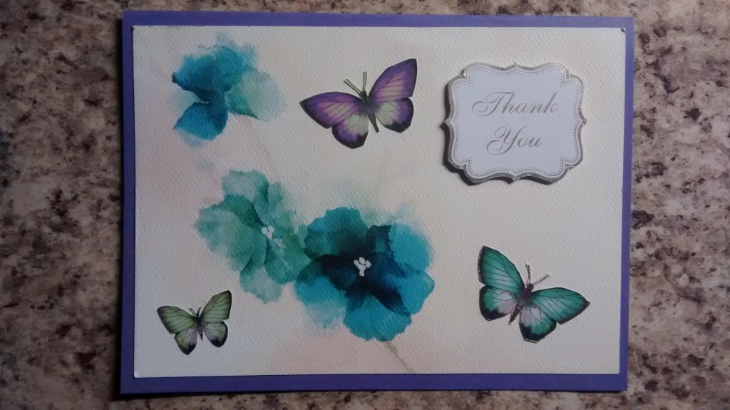 Re-purposed Butterfly Card